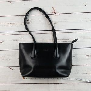 Furla Black Leather Purse Shoulder bag